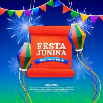 Realistische festa junina illustration