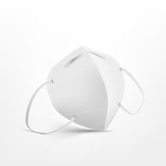 Realistische ffp2-gesichtsmaske