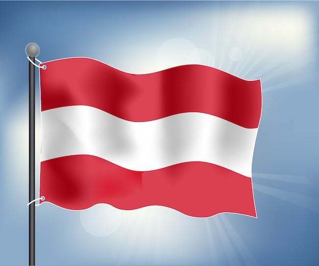 Realistische flagge von österreich