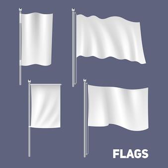 Realistische flaggen set