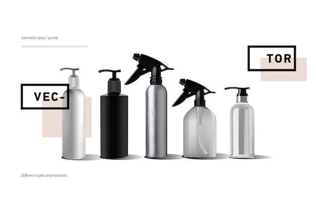 Realistische flasche für kosmetik