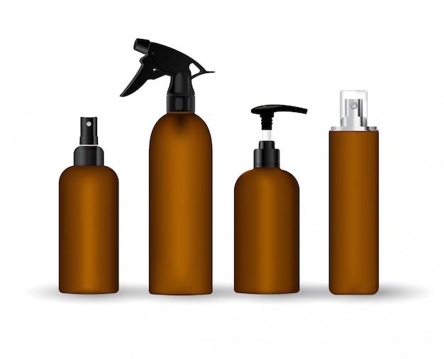 Realistische flasche für kosmetische creme