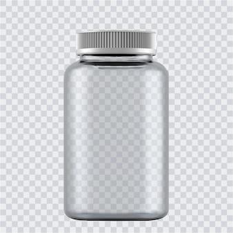 Realistische flaschen für drogen, tabletten