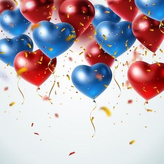 Realistische fliegende ballone