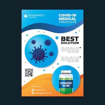 Realistische flyer-vorlage für coronavirus-medizinprodukte