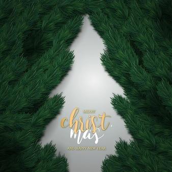 Realistische frohe weihnachten und ein gutes neues jahr