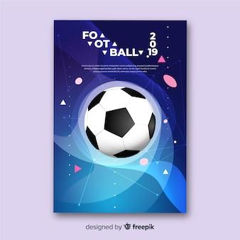 Realistische fußball plakat vorlage