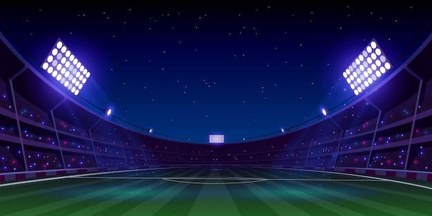 Realistische fußballfußballstadionillustration