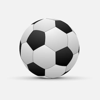 Realistische fußballkugel getrennt