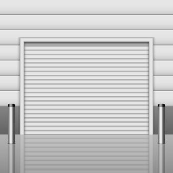 Realistische garageneingangsillustration