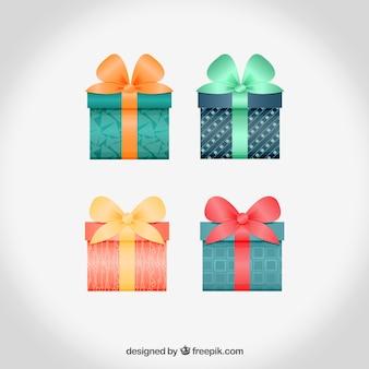 Realistische geschenk-boxen