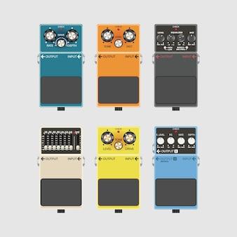 Realistische gitarreneffekte pedal und stomp-boxen