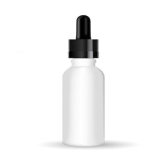 Realistische glasflasche mit tropfer