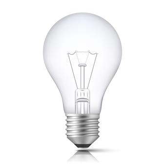 Realistische glühbirne isoliert