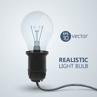 Realistische glühlampe
