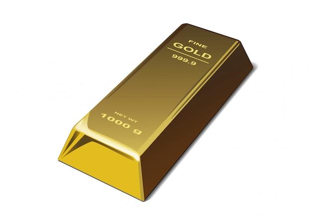 Realistische goldbarren