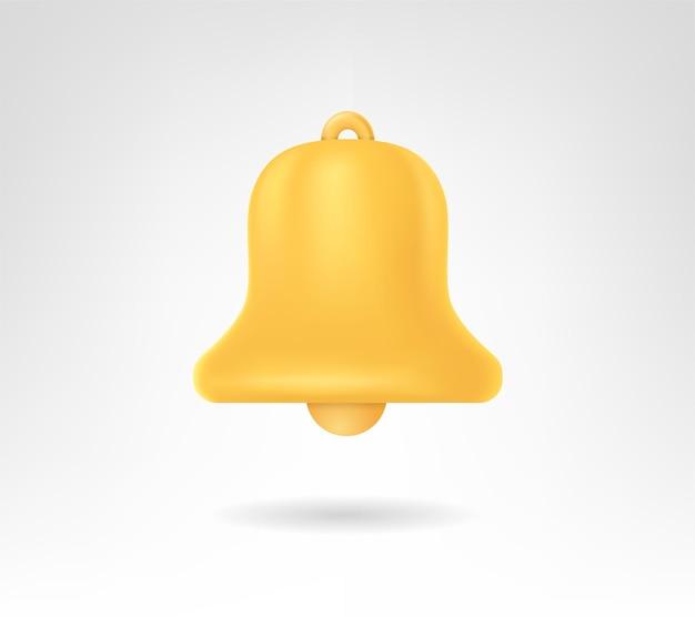 Realistische goldene glocke. gestaltungselement. für banner, poster und broschüren.
