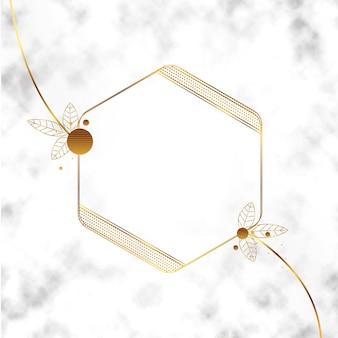Realistische goldene luxusrahmenschablone