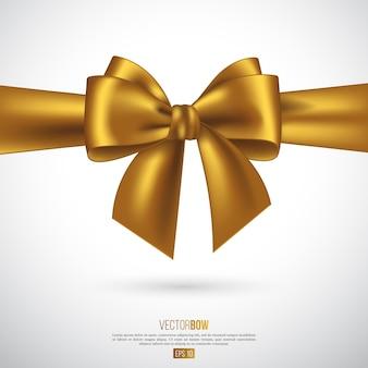 Realistische goldene schleife und band. illustration.