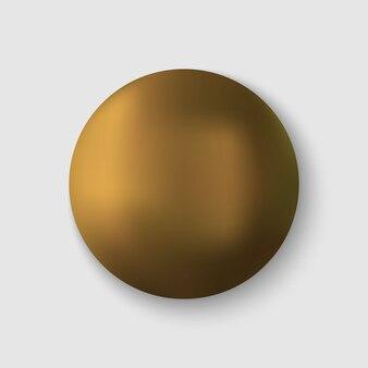 Realistische goldkugel.