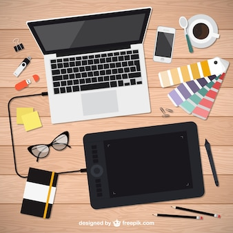Realistische grafik-designer-tools