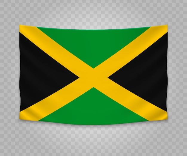 Jamaika Flagge Grün Gelb Rot