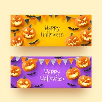 Realistische halloween-banner