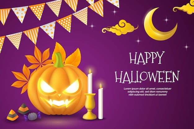 Realistische halloween-tapete