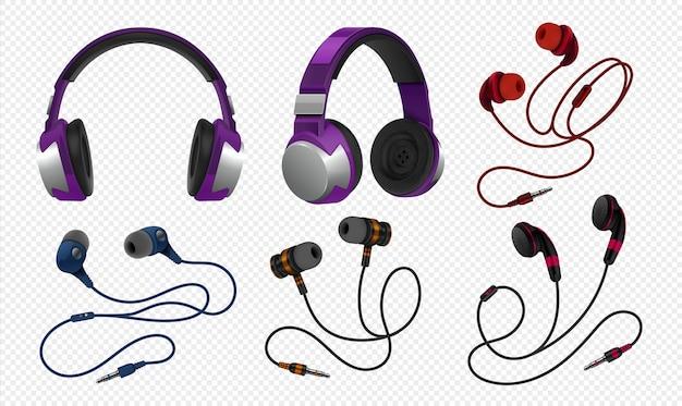 Realistische headset-illustration
