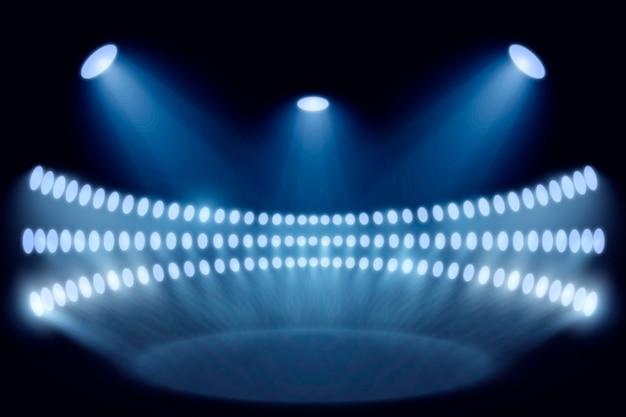 Realistische helle stadionlichter