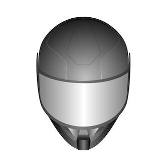 Realistische helme des rennens 3d mit glasmaske