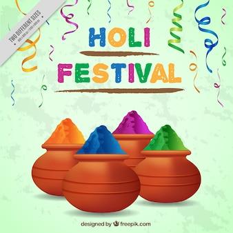 Realistische hintergrund für holi festival