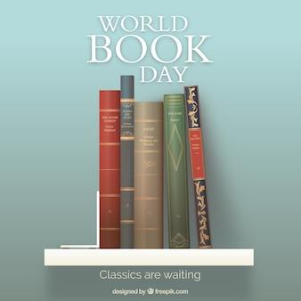 Realistische hintergrund für weltbüchertag