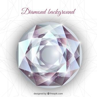 Realistische hintergrund mit geometrischen diamant