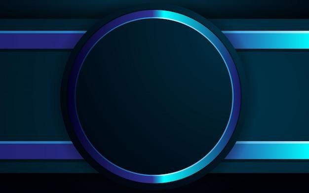 Realistische hintergrund schwarz und blau lichtfarbe design