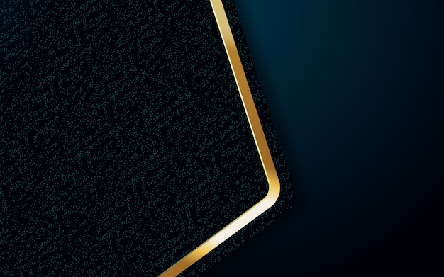 Realistische hintergrundfarbe mit goldenem und blauem lichtdesign