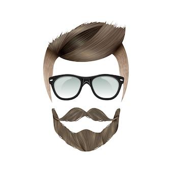Realistische hipster-frisur