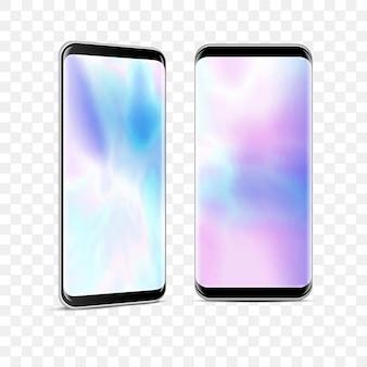 Realistische hochdetaillierte smartphones