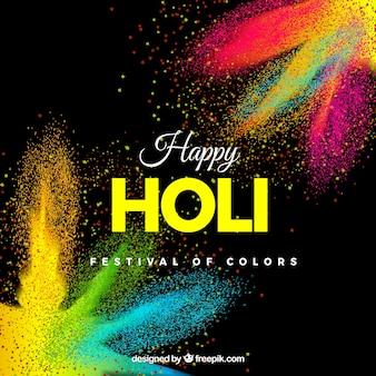 Realistische Holi Festival Hintergrund