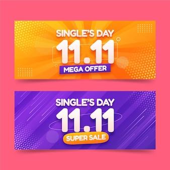Realistische horizontale banner für den singletag