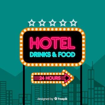 Realistische hotelleuchtreklame