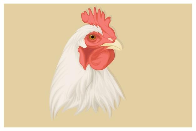 Realistische hühnerillustration