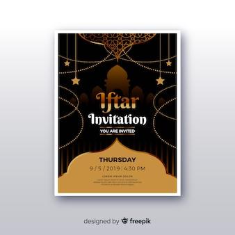 Realistische iftar-einladung