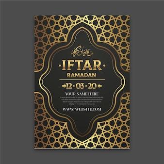 Realistische iftar einladungsvorlage