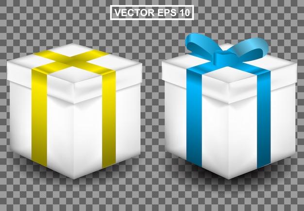 Realistische illustration 3d des geschenks für geburtstag oder weihnachten