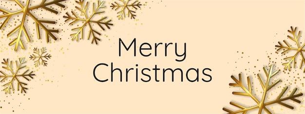 Realistische illustration der schimmernden metallischen schneeflocke. grußkarte, einladung guten rutsch ins neue jahr und weihnachten.