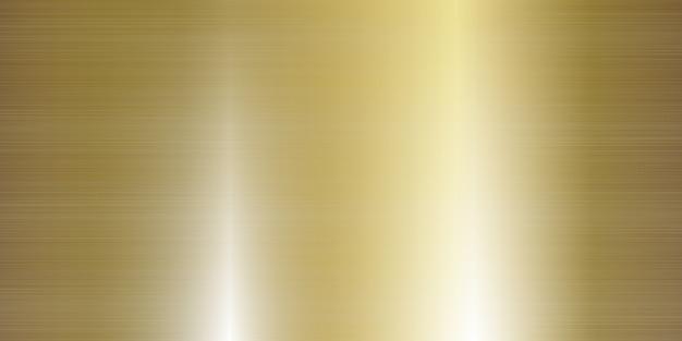 Realistische illustration des großen banners der goldmetallbeschaffenheit