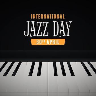 Realistische illustration des internationalen jazz-tages