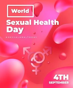 Realistische illustration des welttages der sexuellen gesundheit