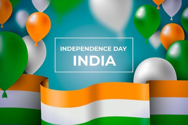 Realistische illustration zum unabhängigkeitstag indiens